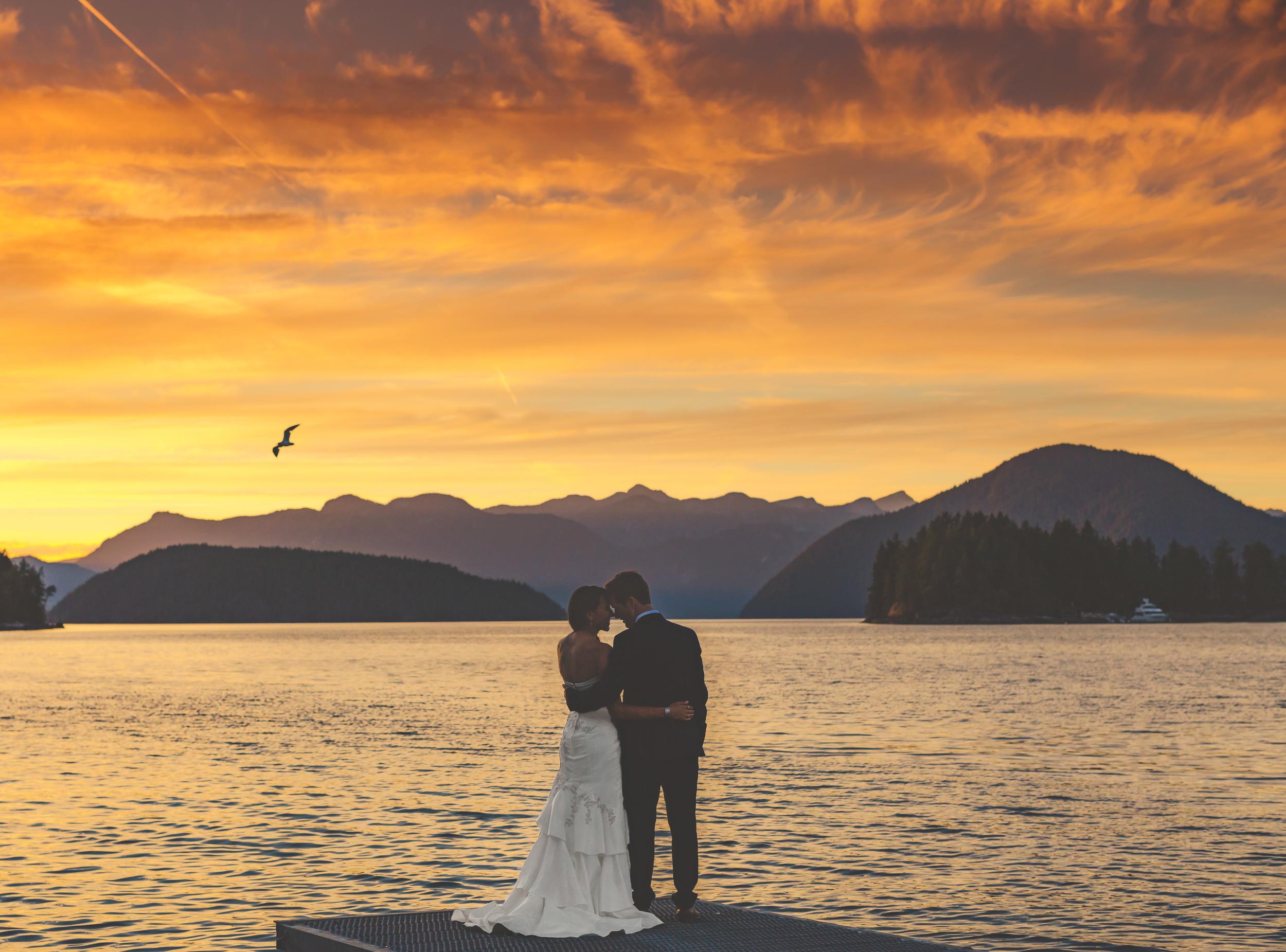 west coast wilderness lodge wedding, sunshine coast wedding photographer, vancouver wedding photographer, sunset wedding, jennifer picard photography