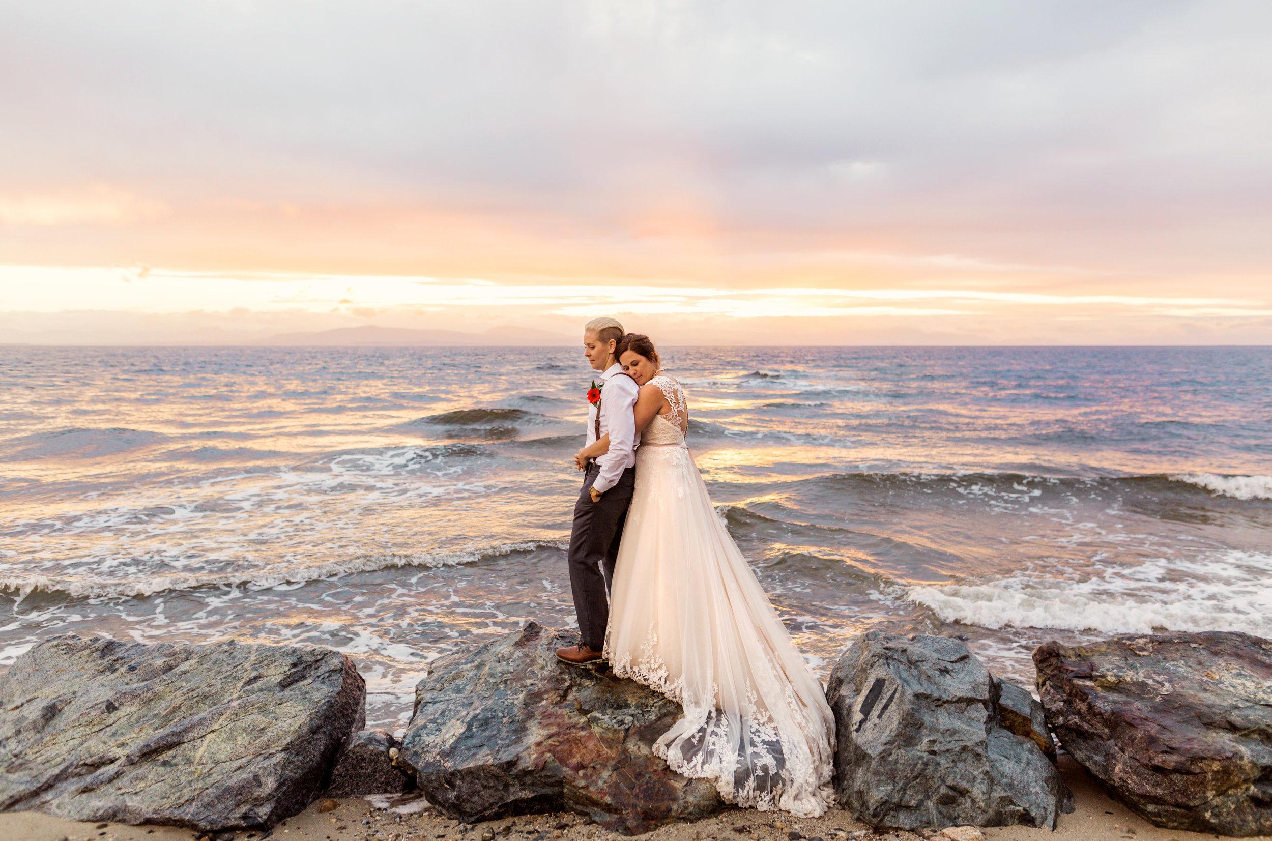 sunshine coast bc elopement, same sex wedding photographer, sunshine coast bc wedding photographer, same sex wedding