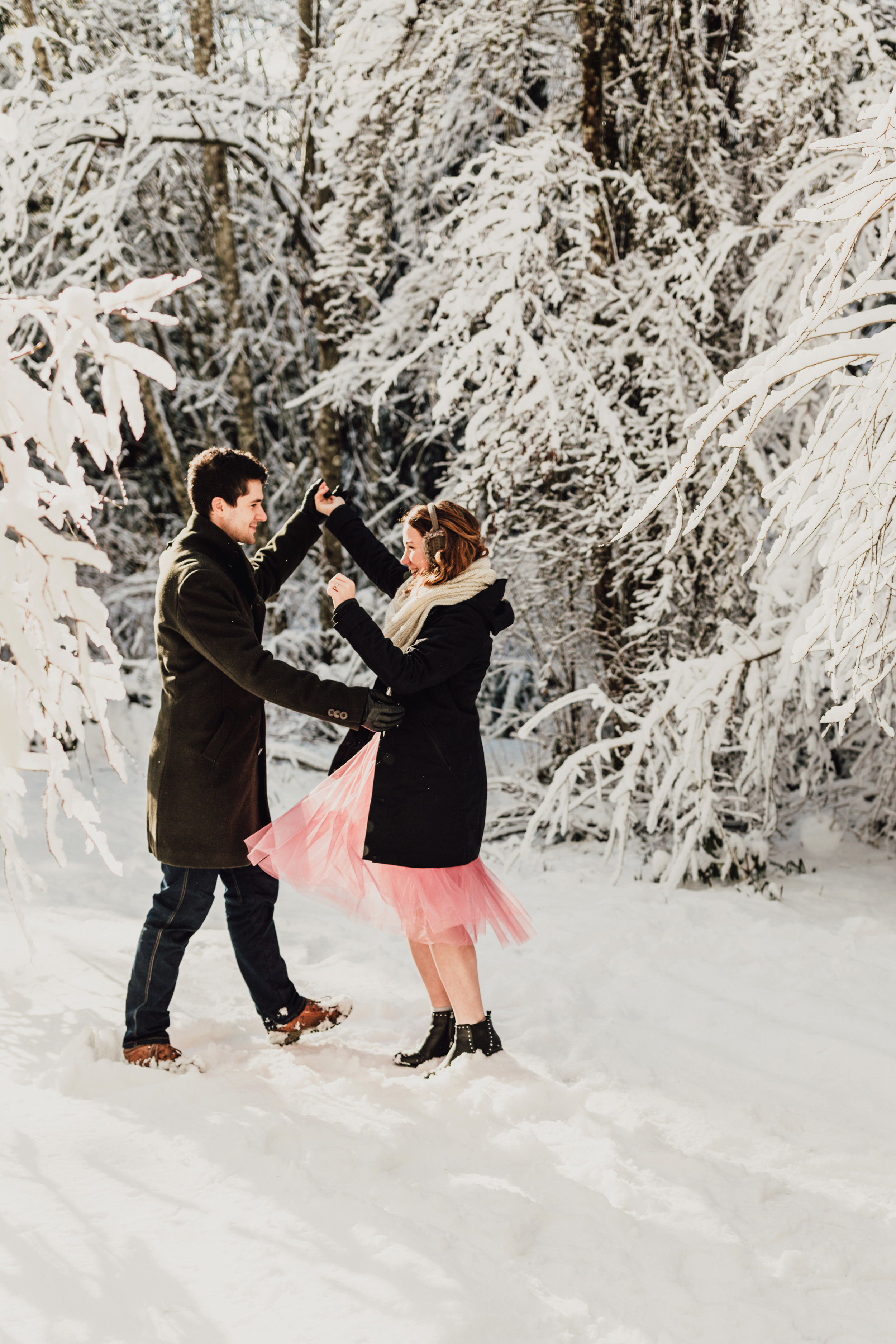 Snowy Engagement Photos - Gibsons Engagement Photos - Sunshine Coast Engagement Photos - Vancouver Wedding Photographer and Videographer - Jennifer Picard Photography104.JPG