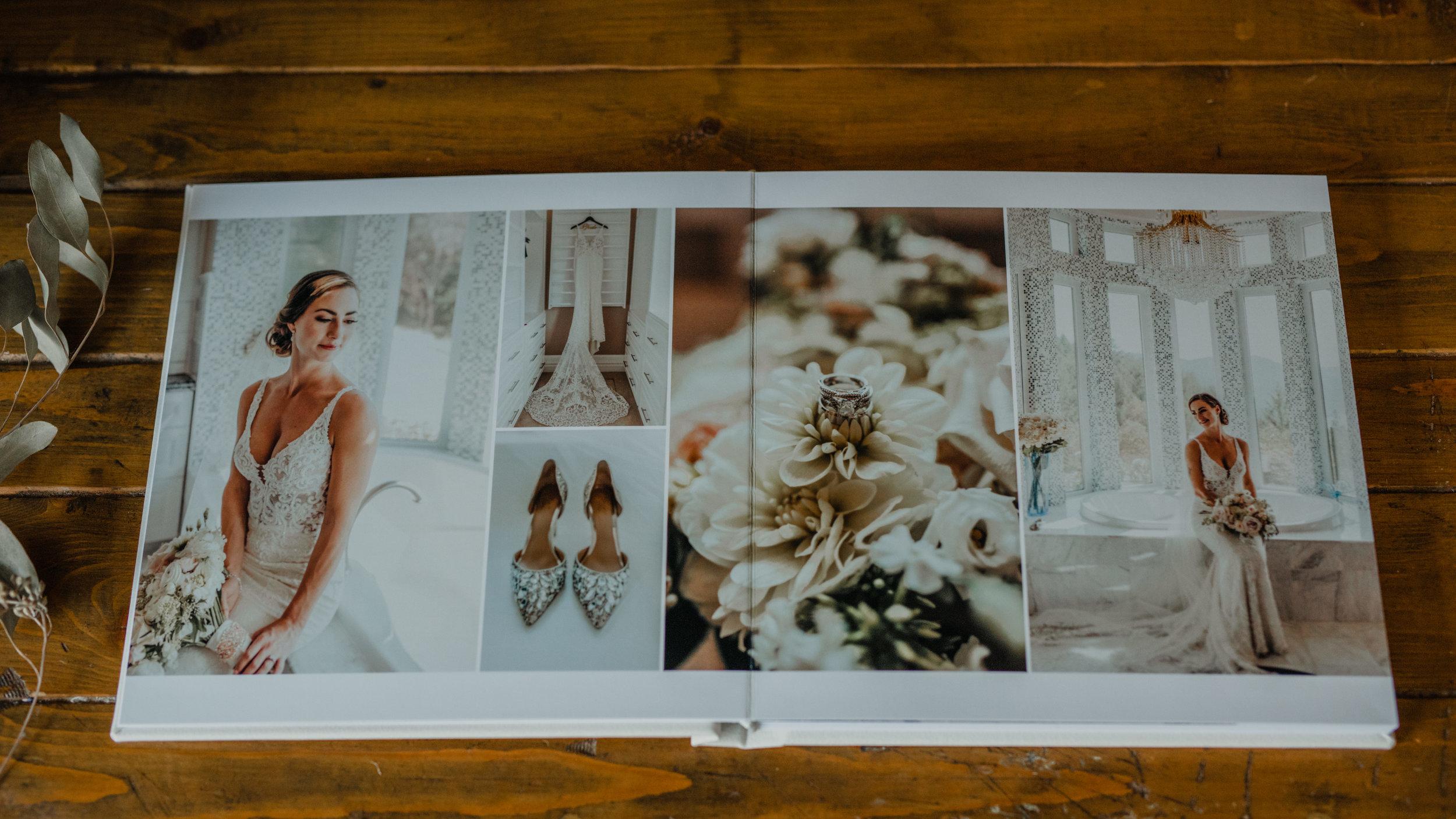 Custom Fine Art Wedding Photo Albums by Jennifer Picard Photography