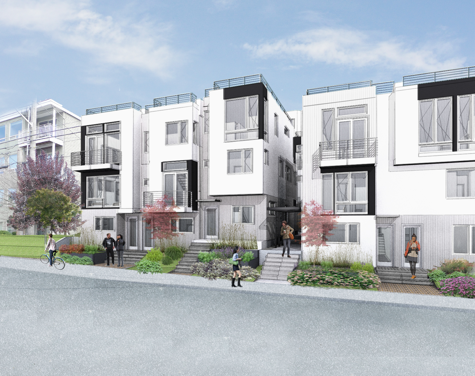 Rendering showing facade to come at 12th Ave E and E Harrison St