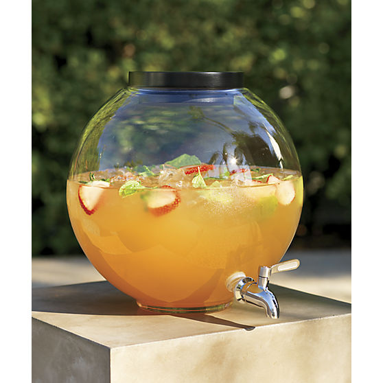 """Pro Tip : Add """"lifestyle cues:"""" accessorize to show how the potential buyer can enjoy the space. This  CB2 Beverage Dispenser  could be filled and place on a patio during an open house."""