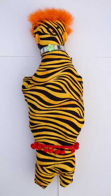 designed and sewn stuffed animal by Amelia age 6, inspired by Mike Kelley