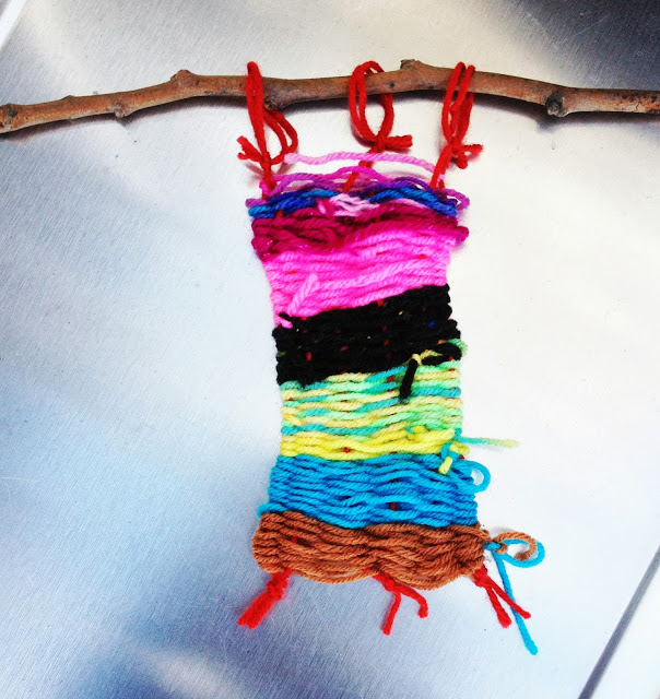 weaving by Abby age 5