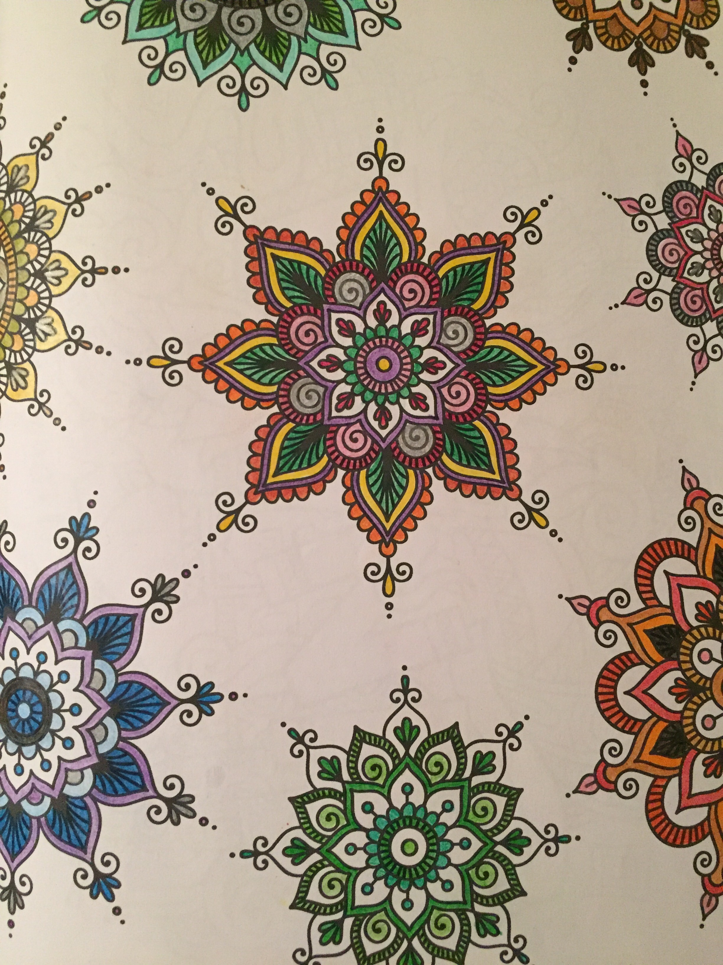 Filled using colored pencils.