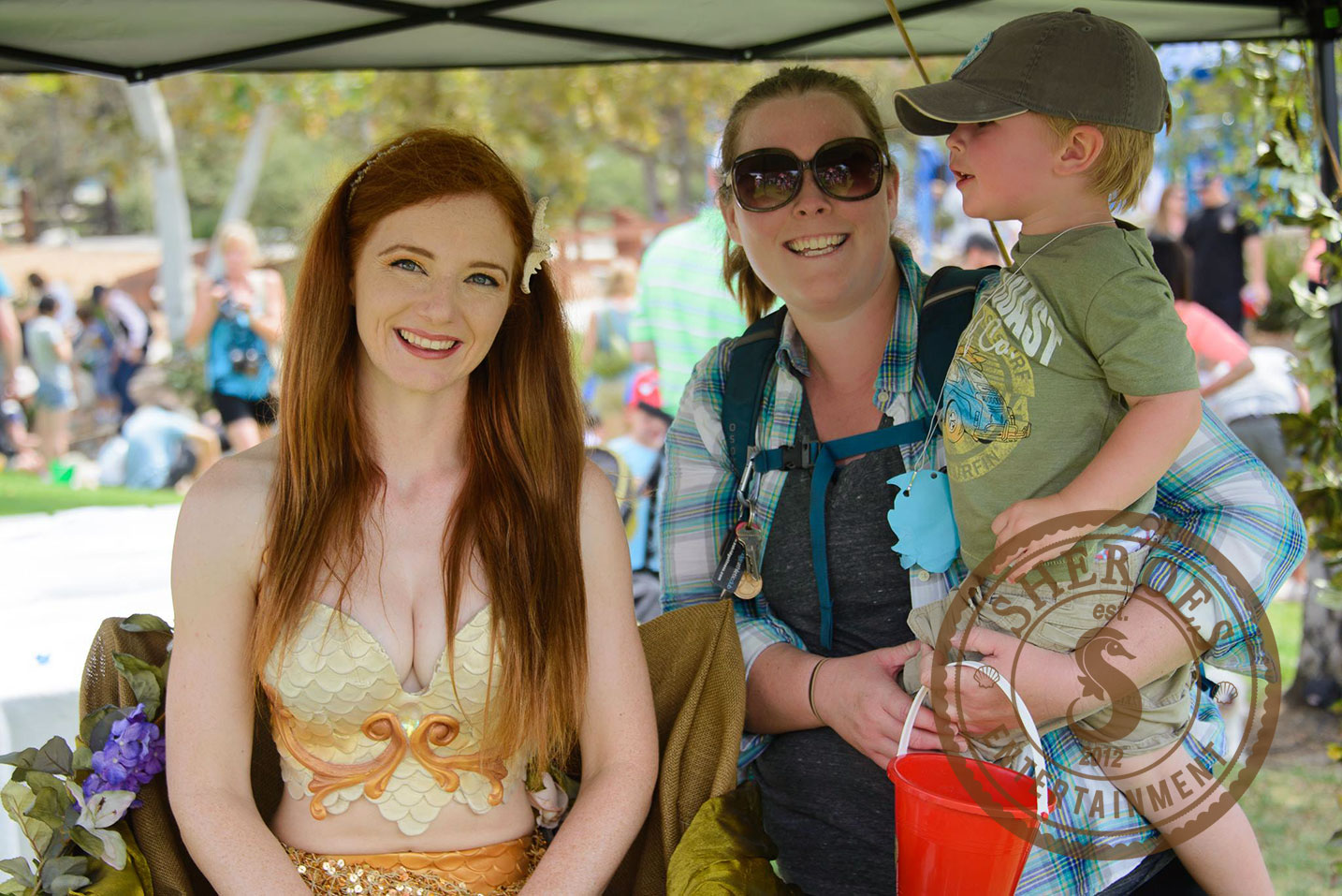 """Catalina Mermaid  doingfeatured communitymeet and greet at """"Fishing Frenzy"""" in Thousand Oaks"""