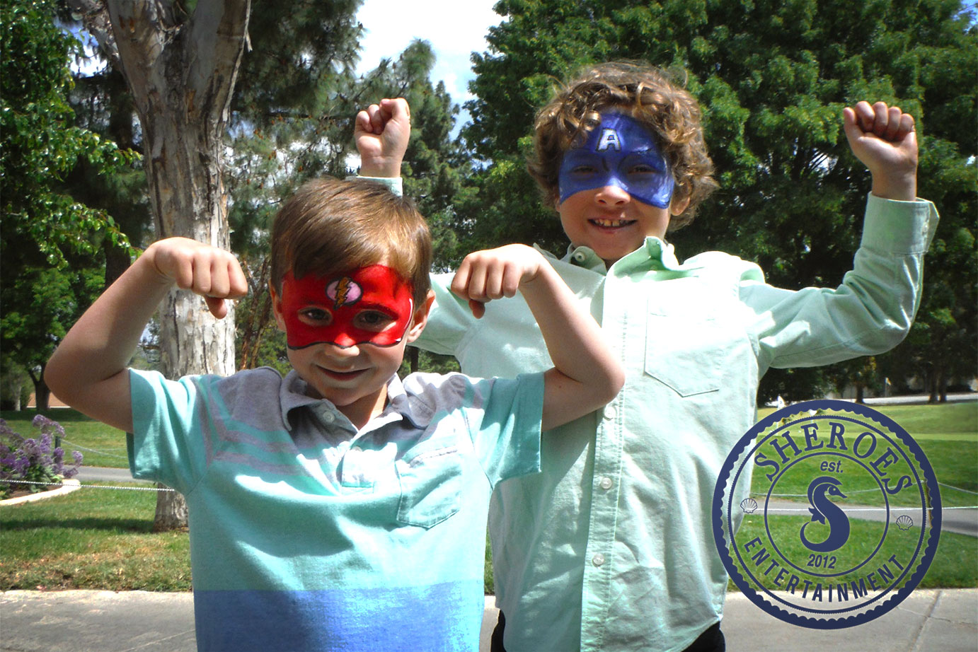 Super hero face paint designs make every kid feel like a champion!