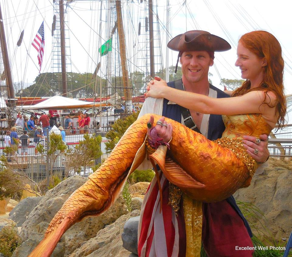 Pirate John and Catalina Mermaid Tall Ships Festival - Debi Magruder.jpg