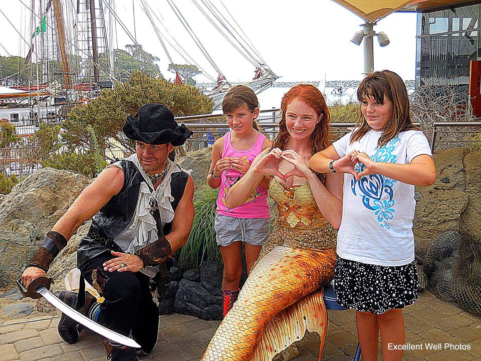Pirate Matt and Catalina Mermaid with Kids Tall Ships Festival - Debi Magruder.jpg