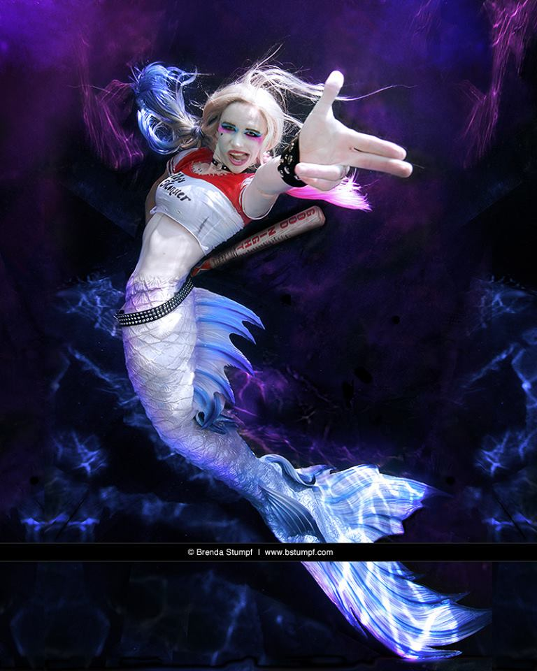 Mermaid Harley Quin of Suicide Squad by DC Comics and Brenda Stumpf