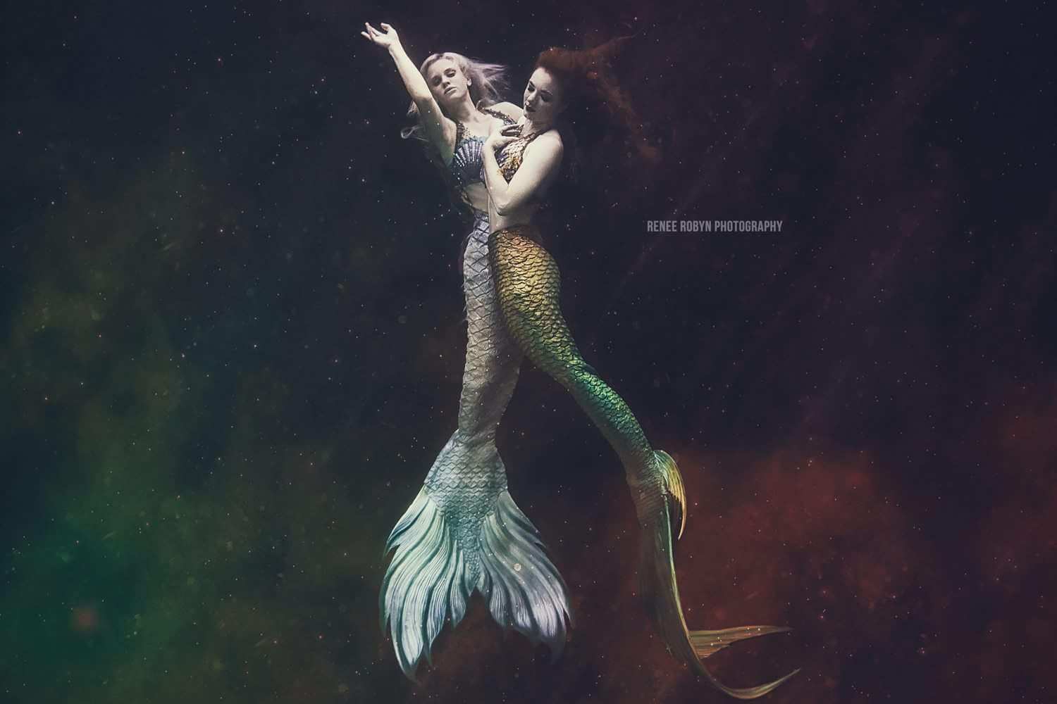 Catalina Mermaid Green Tail with Splash by Renee Robyn Photography.JPG