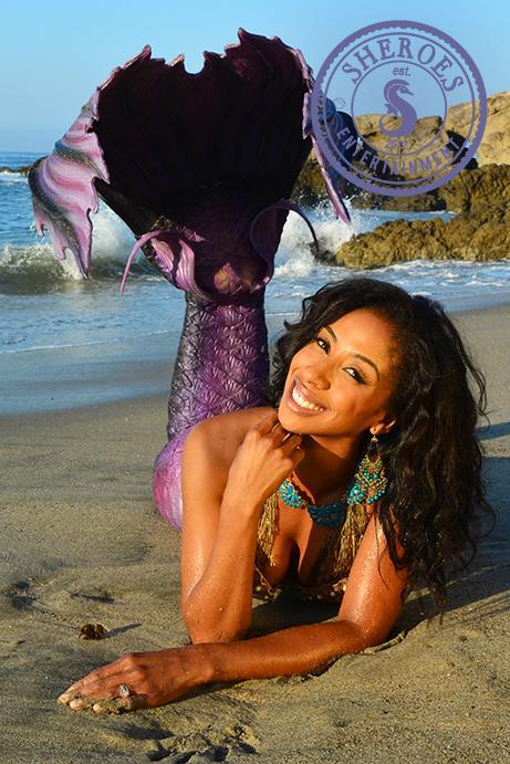 Black Mermaid for Party in Los Angeles