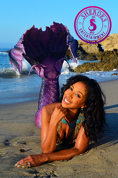 Black Professional Mermaid from LA for Birthday Party