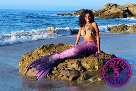Black Professional Mermaid Los Angeles