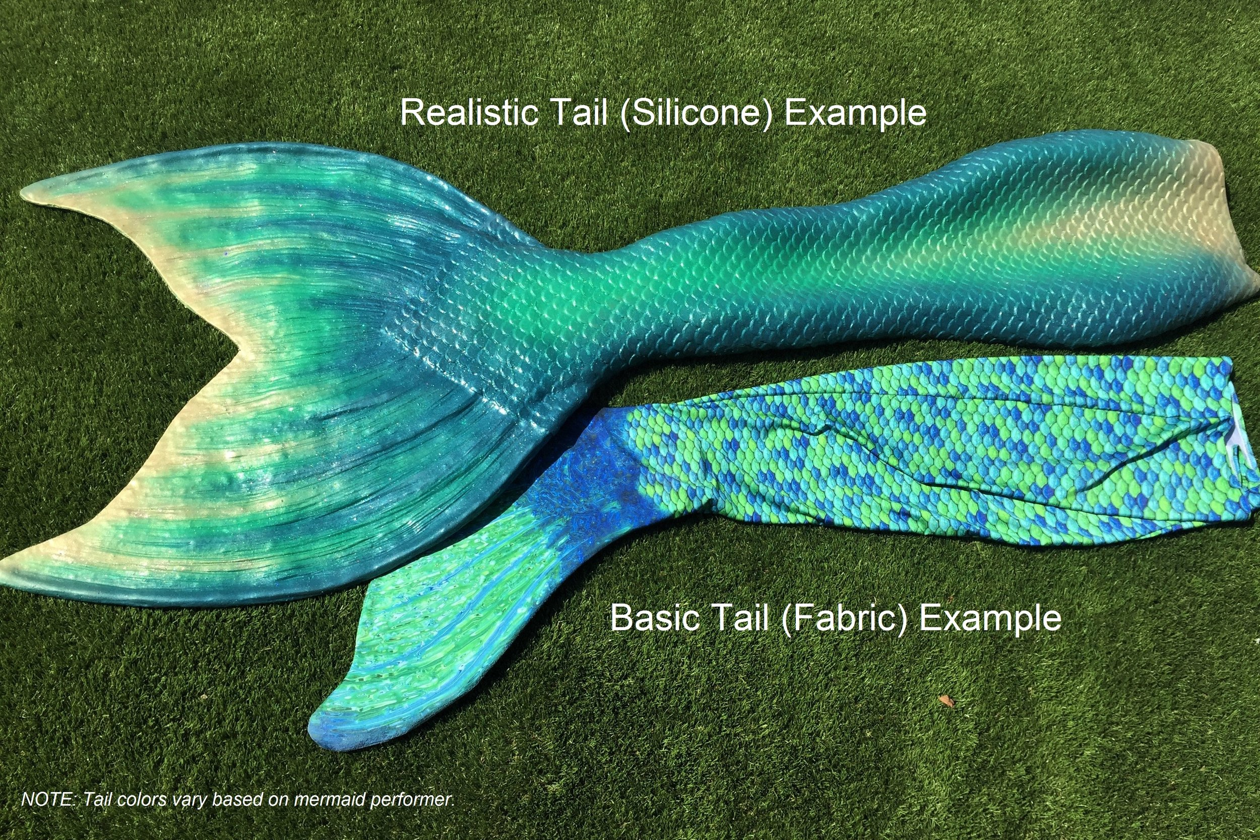 Silicone and Fabric Mermaid Tail Comparison