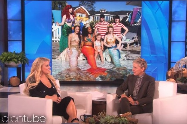 Our mermaids and fireguards on the Ellen Show