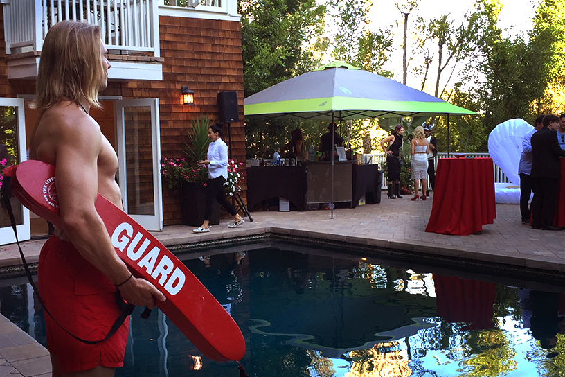 Hot Baywatch Lifeguard Model for Pool Party in Los Angeles