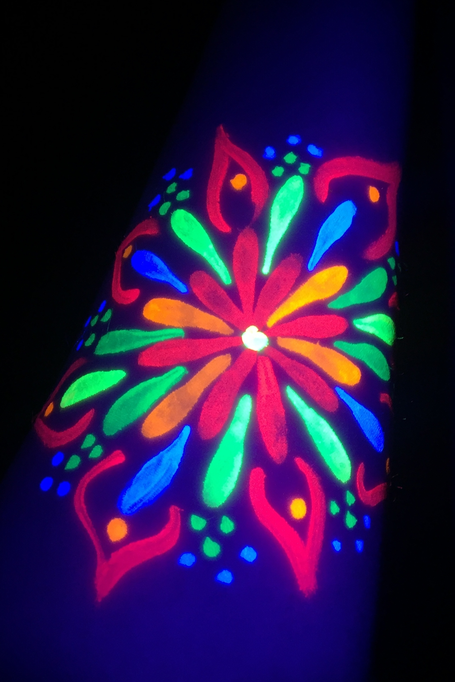 Blacklight / UV Style Arm Art is Popular in Los Angeles!