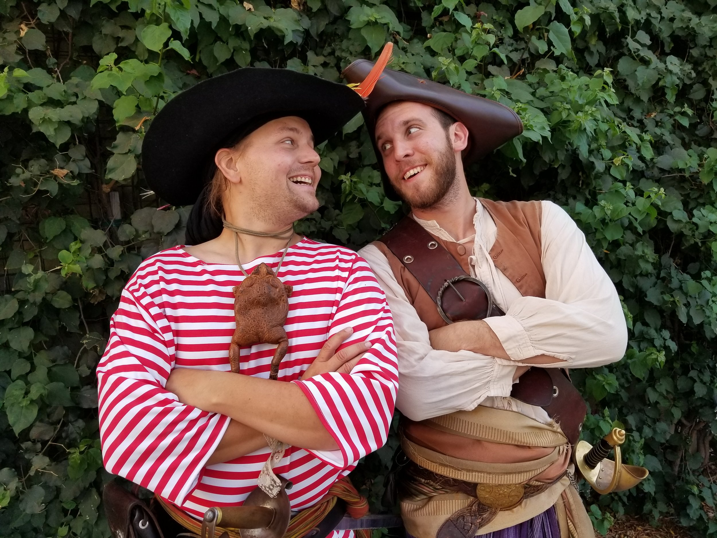 Double the pirate, double the fun! With two pirates we can present a full sword fighting show!