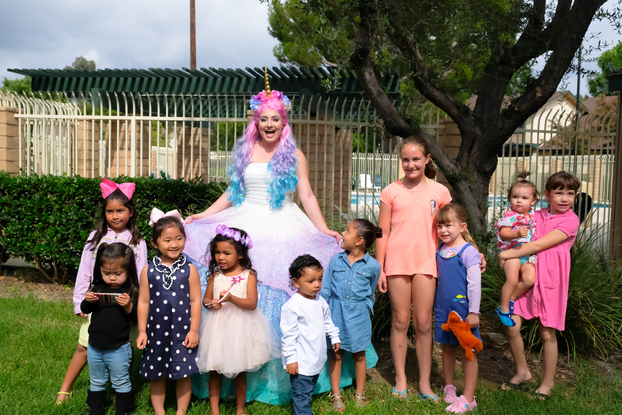 Orange County Inland Empire Unicorn Princess Birthday Party Entertainment Character