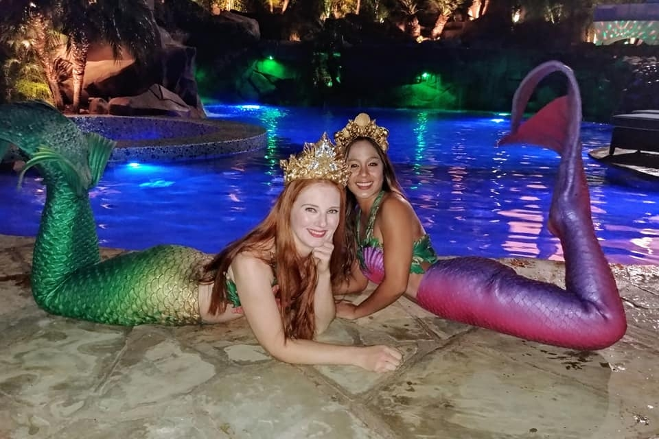 Sheroes Entertainment Mermaid Models for Los Angeles Pool Party