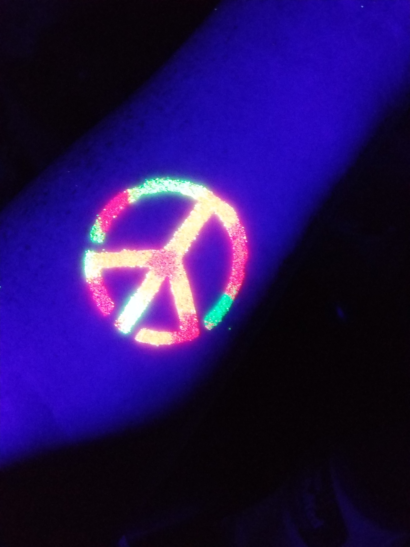 Glitter Tattoo - Blacklight UV Peace 1.jpg