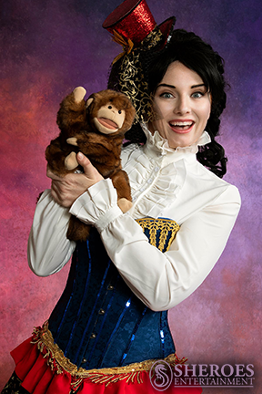 Amy American Clown with Monkey Puppet.png