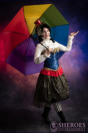 Amy American Clown with Umbrella 2 - Watermark.png