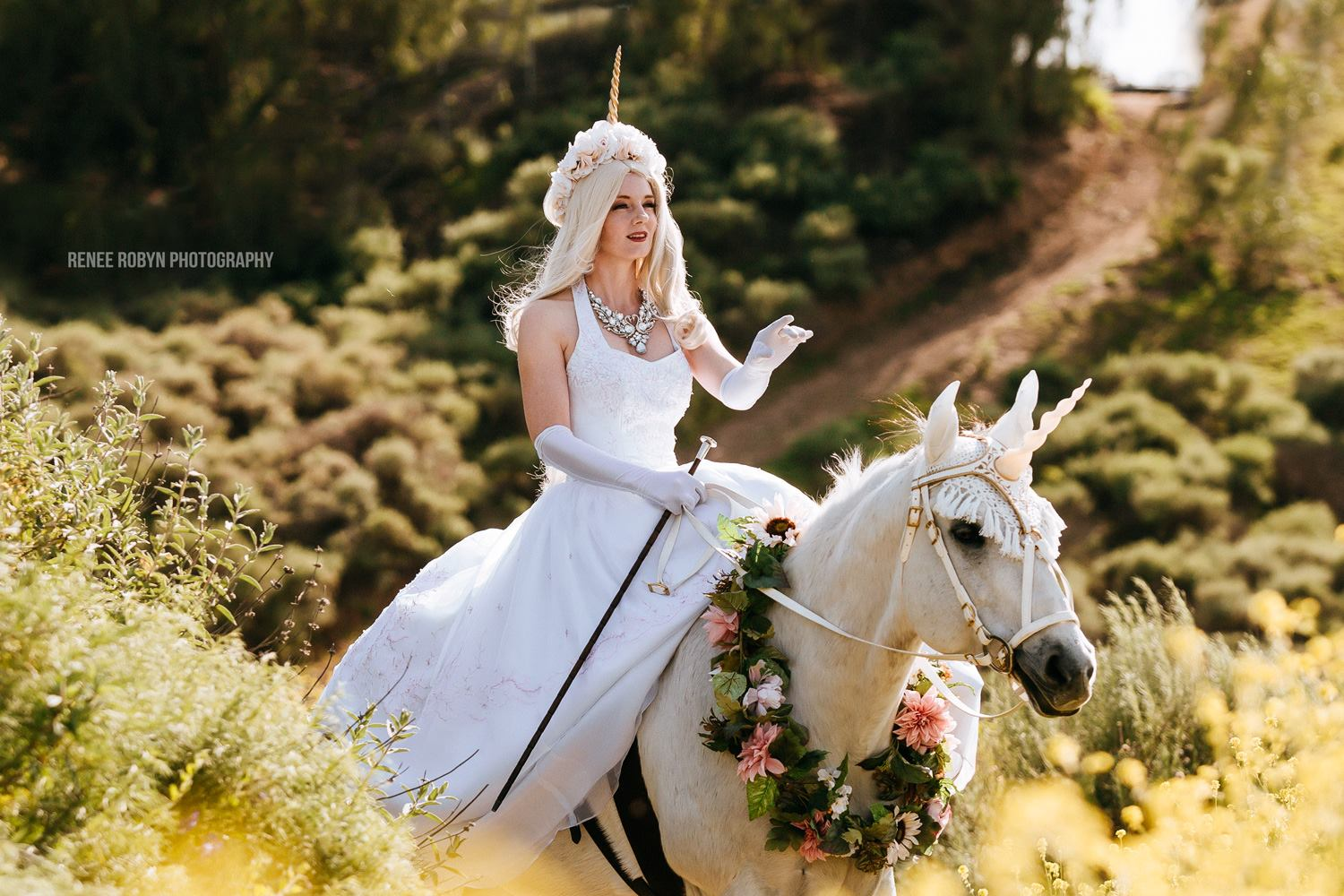 Ride a Unicorn at Your Wedding! We Offer A Gorgeous Sidesaddle Horse Package Perfect for Los Angeles and Ventura County Brides!