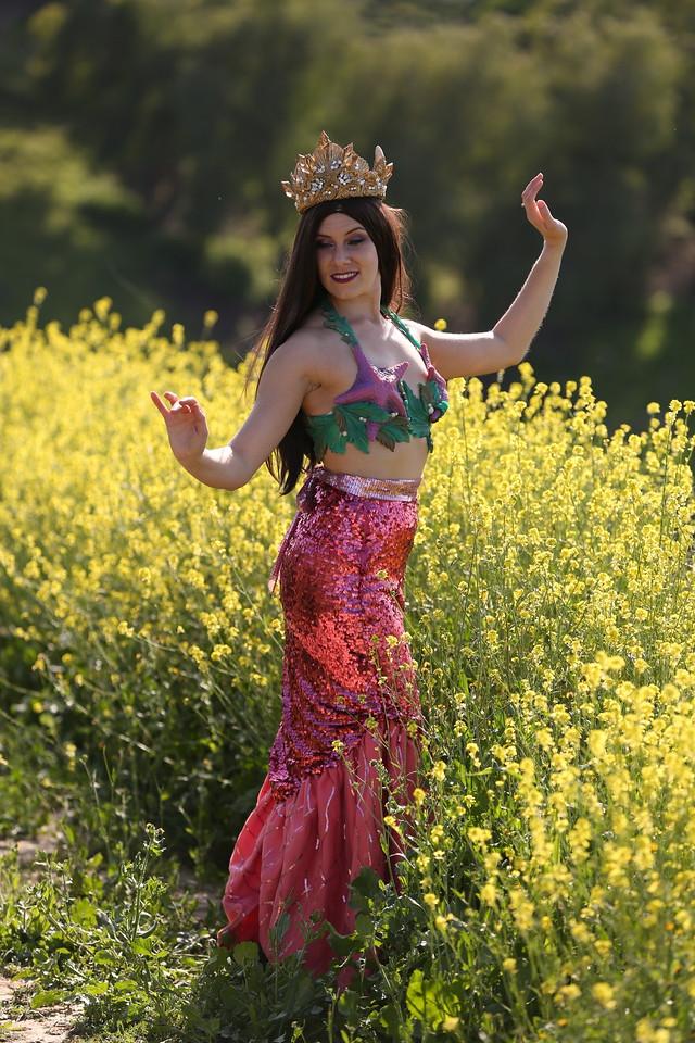 Mermaid Merissa - Pink Walking Skirt Los Angeles Mermaid Party Character Entertainment.jpg