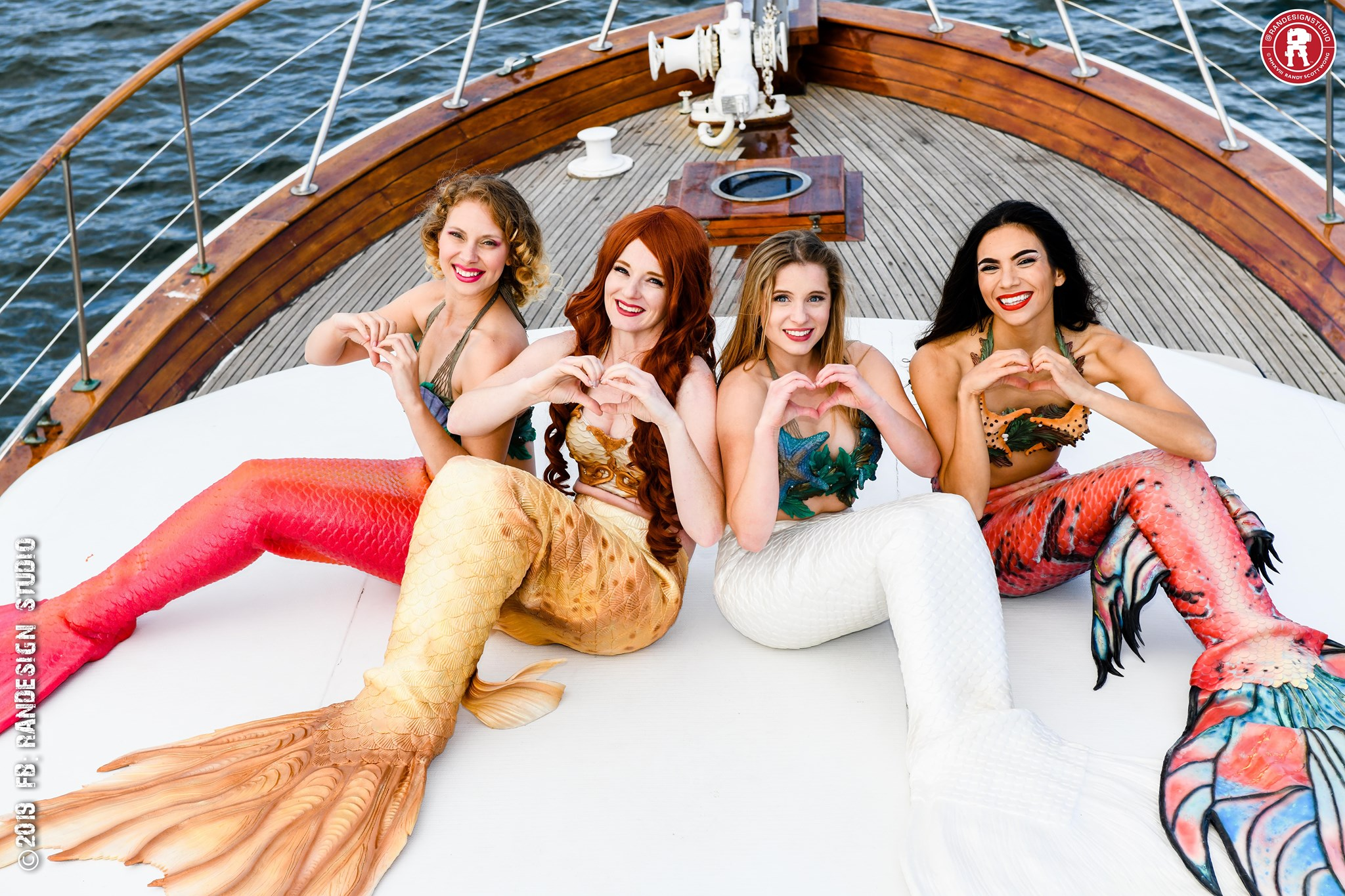 Mermaids Marina, Catalina, Cascade, and Naiya by Randy Wong