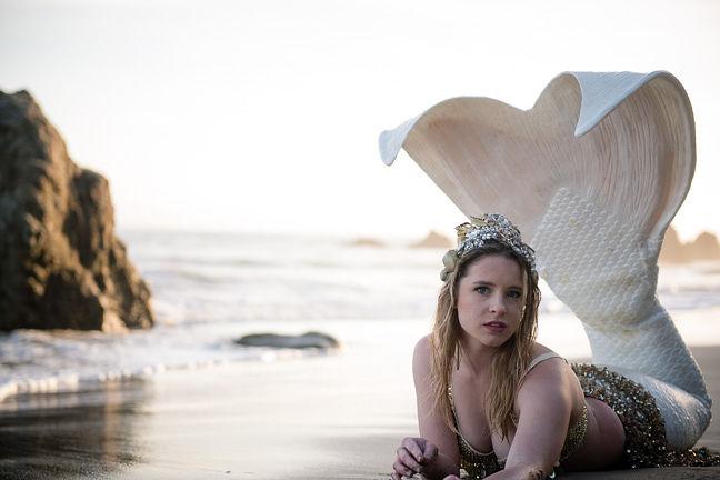 Blonde Professional Mermaid for Party Pasadena - Mermaid Cascade Sheroes 1