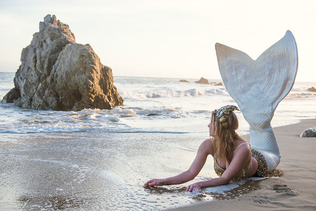 Blonde Professional Mermaid for Party Pasadena - Mermaid Cascade Sheroes 2