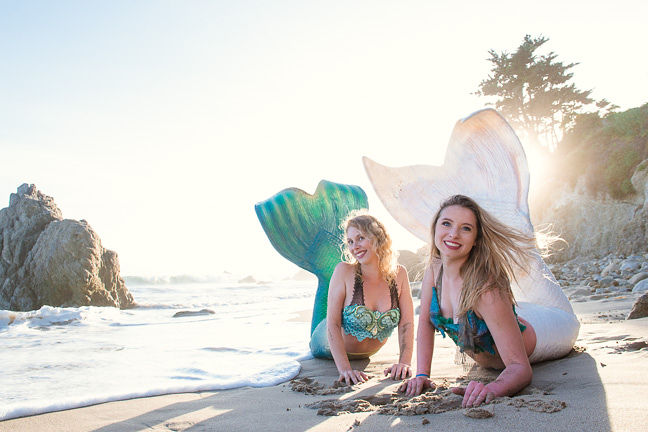 Blonde Professional Mermaid for Party Pasadena - Mermaid Cascade and Marina Los Angeles 2 Sheroes