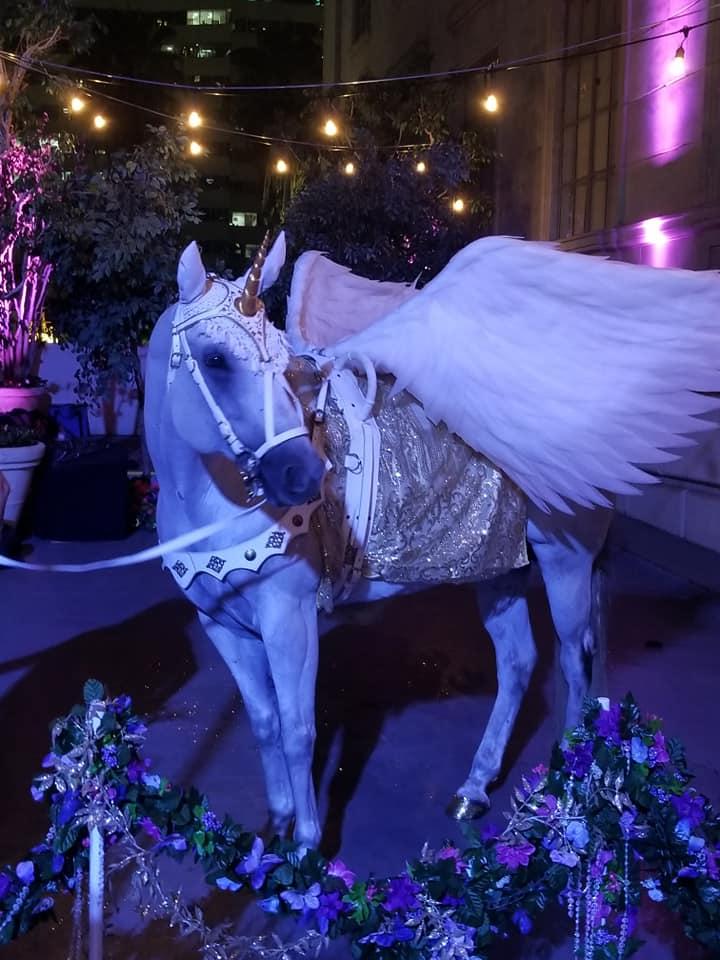 Hire Milo the Unicorn as the winged horse Pegasus!