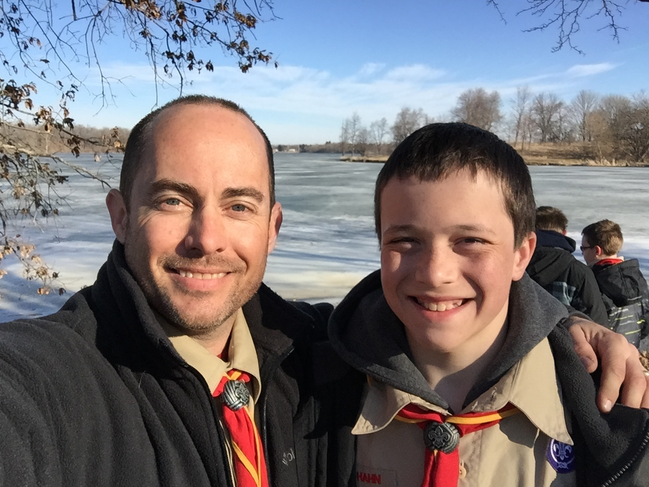 BillHahn-BoyScouts-Cade-At-Campout-Lake.JPG
