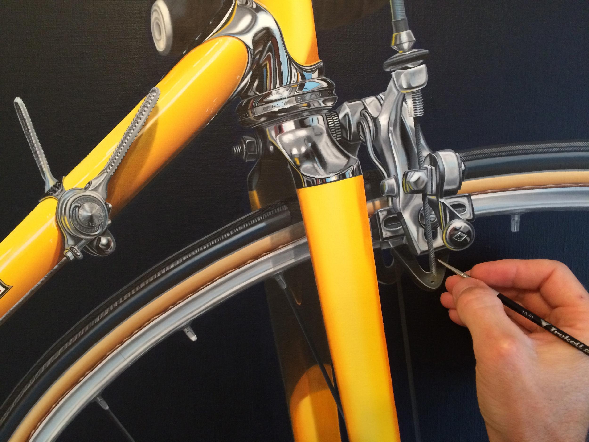 Final touches on front brake - Jaune - Nickalas Blades
