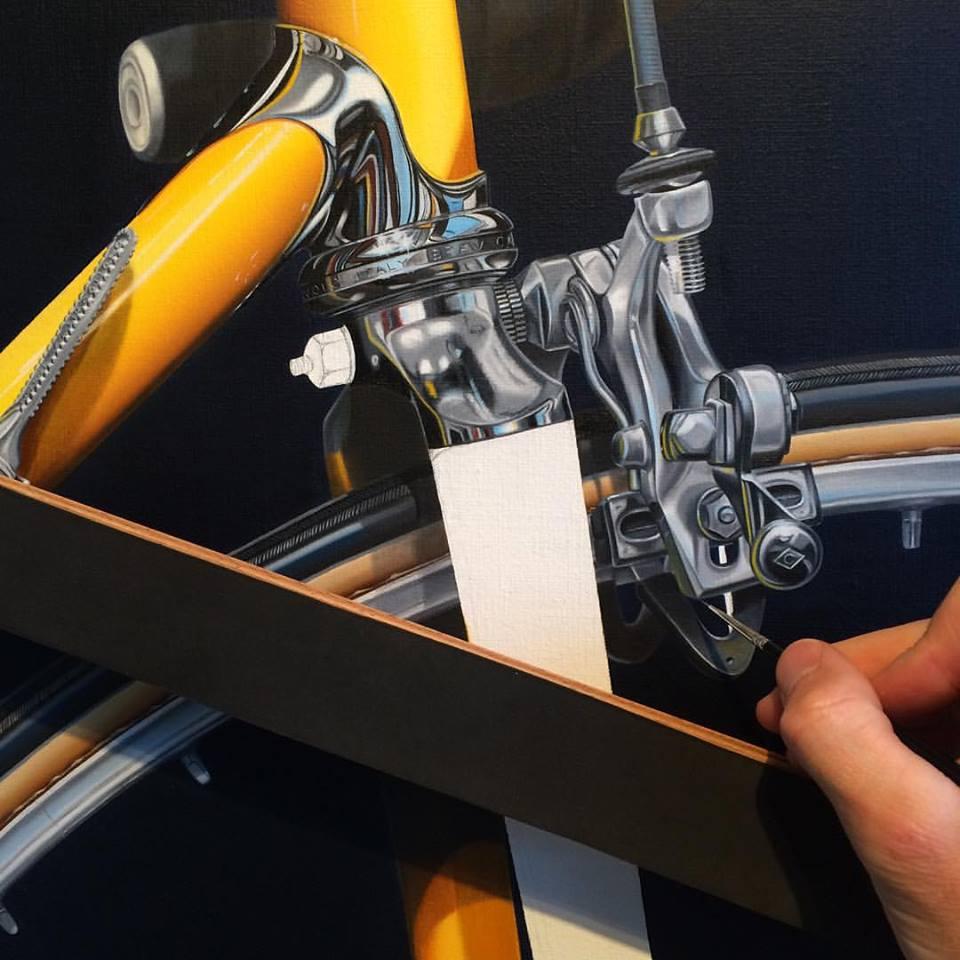 Process on front of Cinelli - Jaune -Nickalas Blades