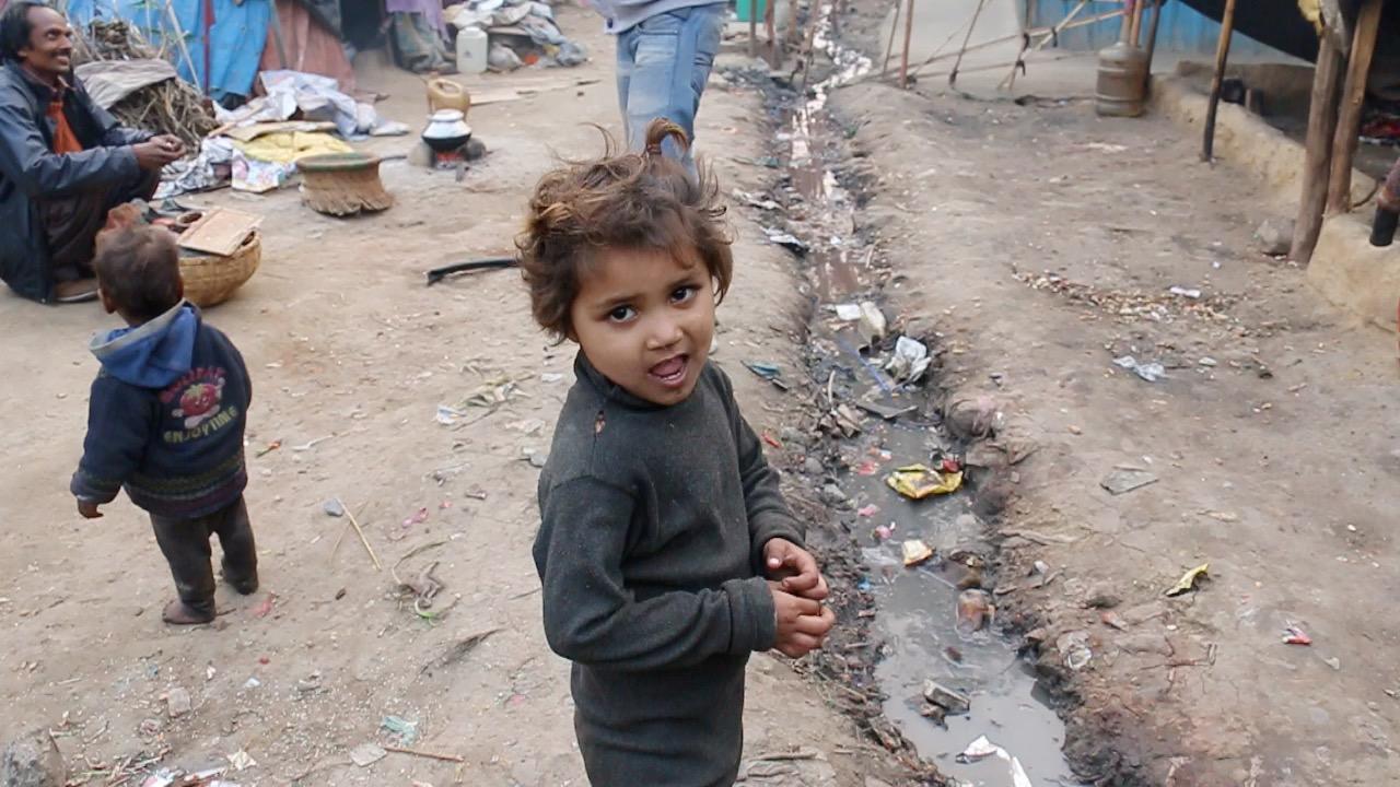 Shadara slum near Shadara railway station, Delhi