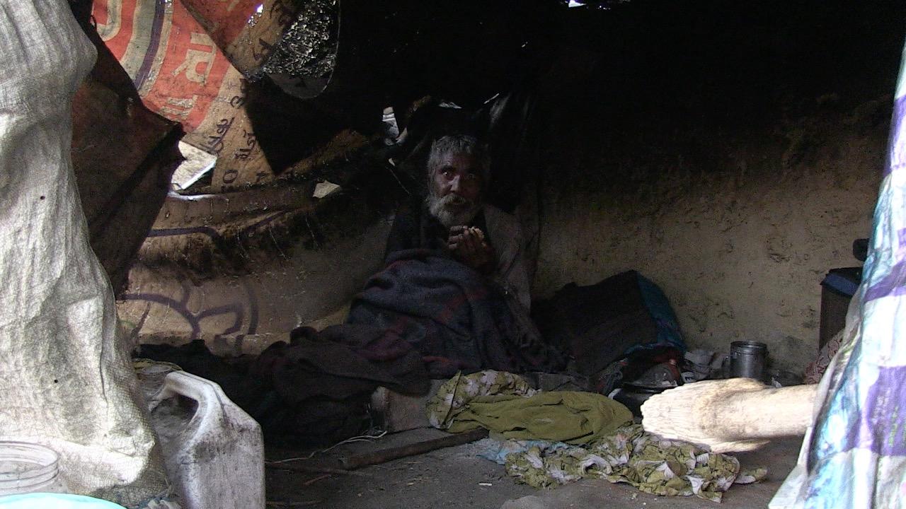 Homeless man in Gorakphur, India
