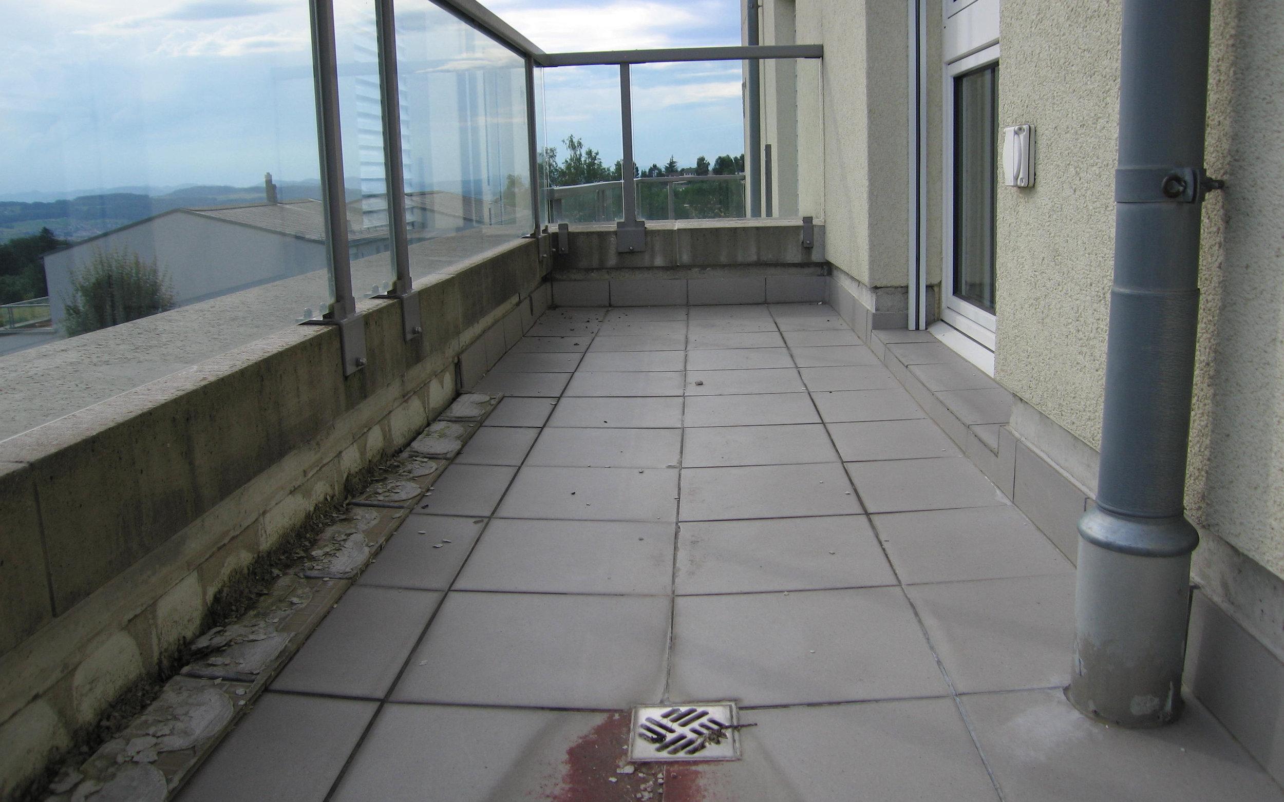 Balkon abdichten mit Flüssigkunststoff