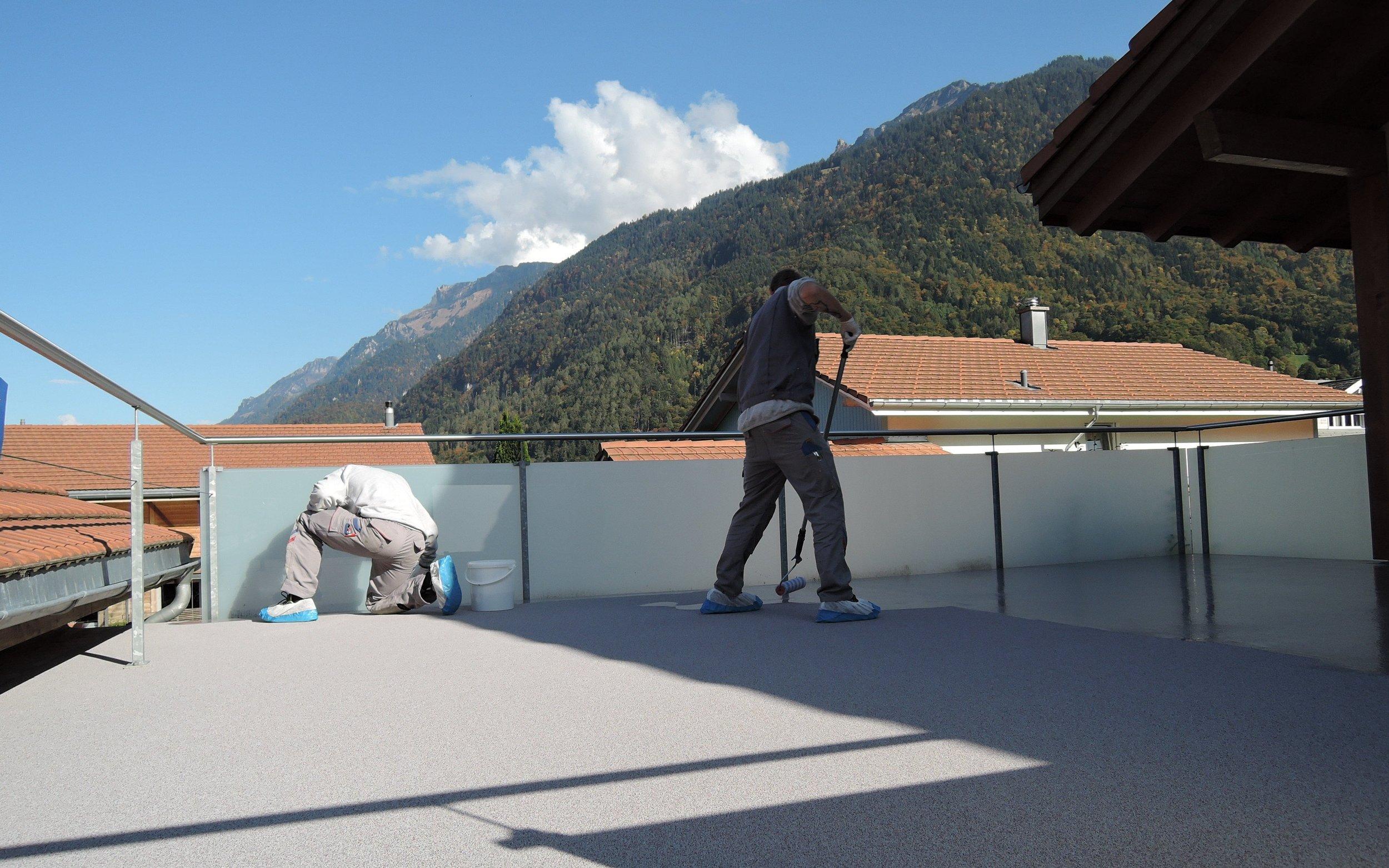 Terrassenbeschichtung