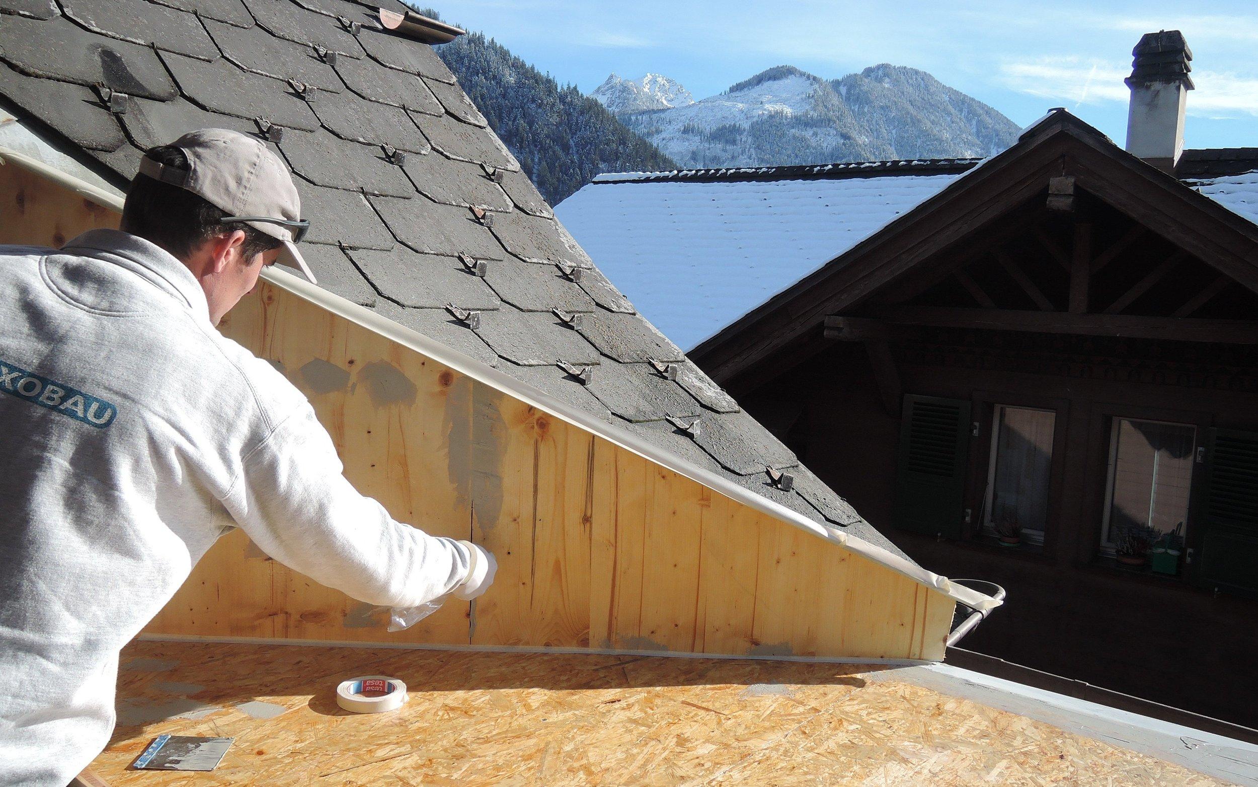 Abdichtung Holzkonstruktion