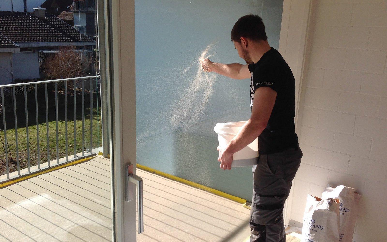 Kunstharzbeschichtung auf Balkon