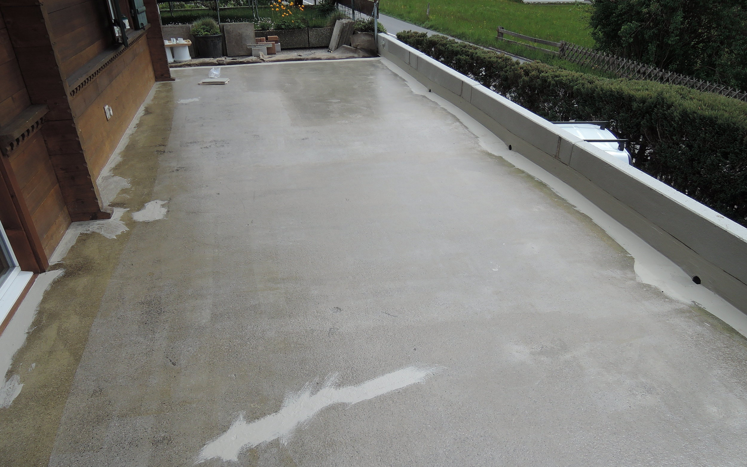 Zementüberzug & Bodenbeschichtung im Aussenbereich