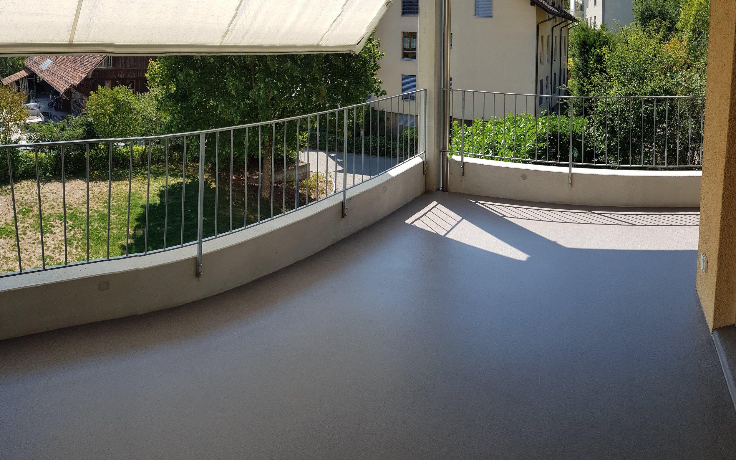 Balkonbeschichtung mit Kunstharz