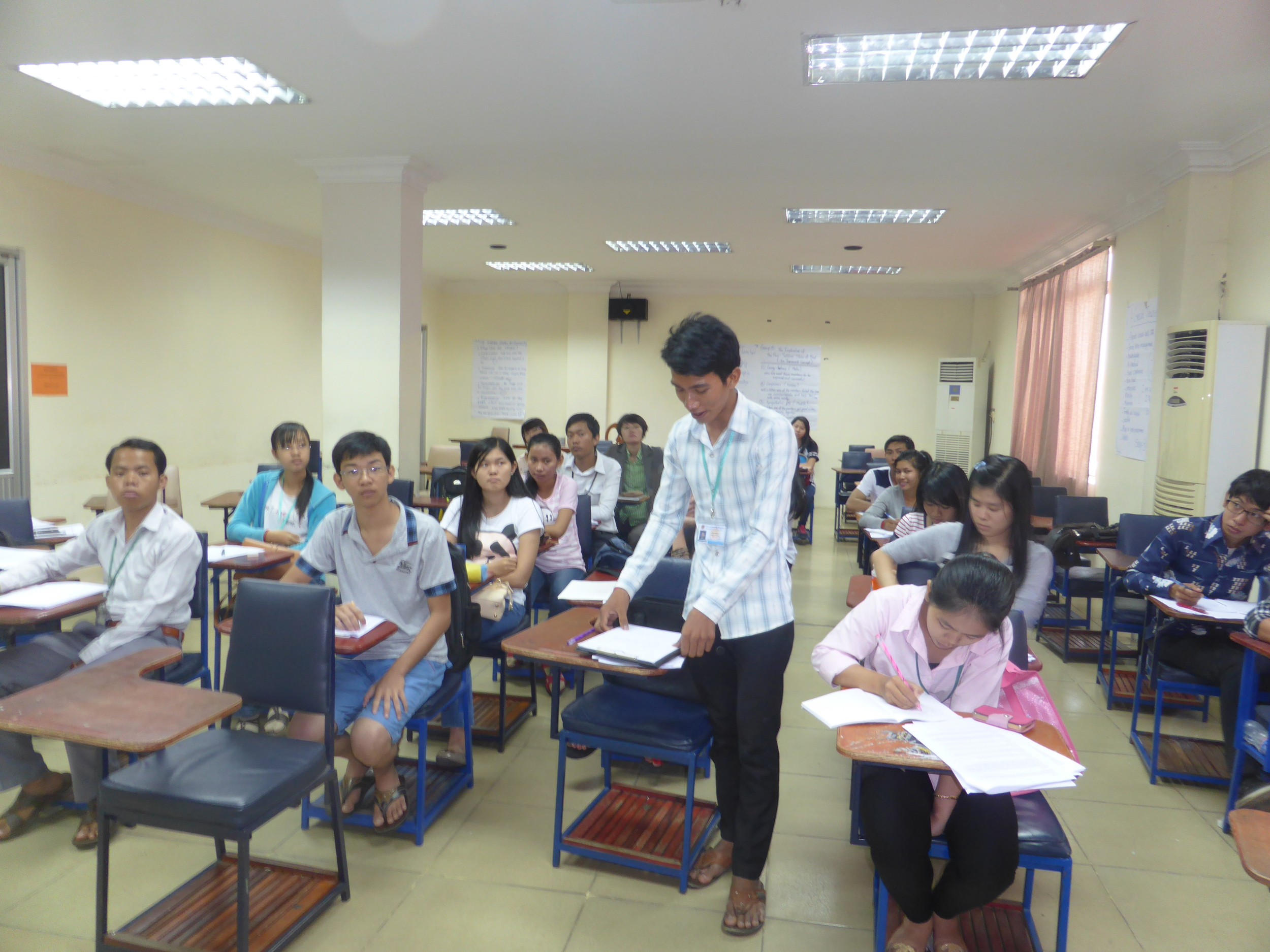 A student shares his personal reflection on the issue of domestic violence in Cambodia.