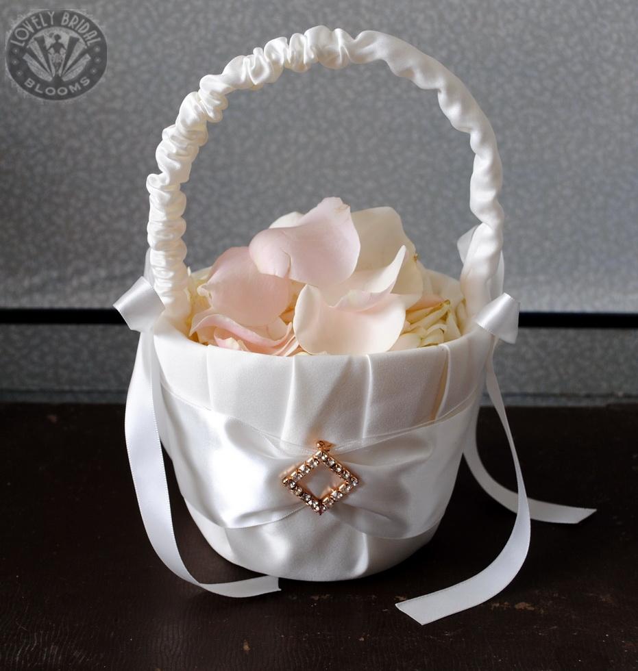 Basket of rose petals