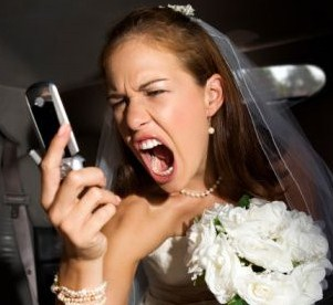 Bride rage! fully understandable in this case..