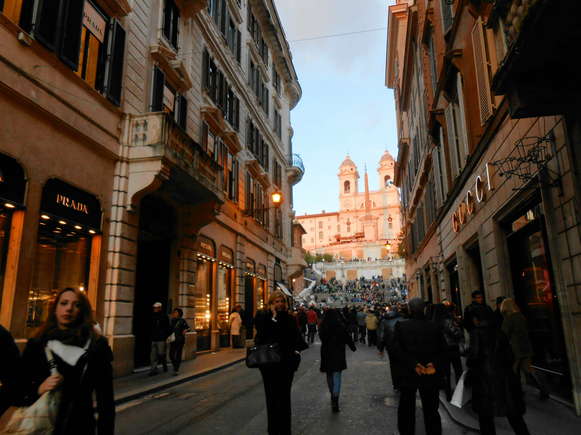 Designer shops now line the streets leading up to the iconic Spanish Steps.